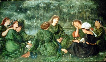 MFA167775 Green Summer, 1864 (gouache on paper) by Burne-Jones, Sir Edward (1833-98) gouache on paper 29x48.5 Private Collection English, out of copyright