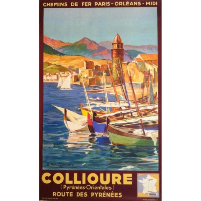 original-vintage-poster-collioure-route-des-pyrenees-e-paul-champseix